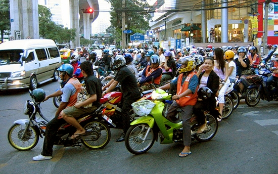 Bangkok motorcycle taxis