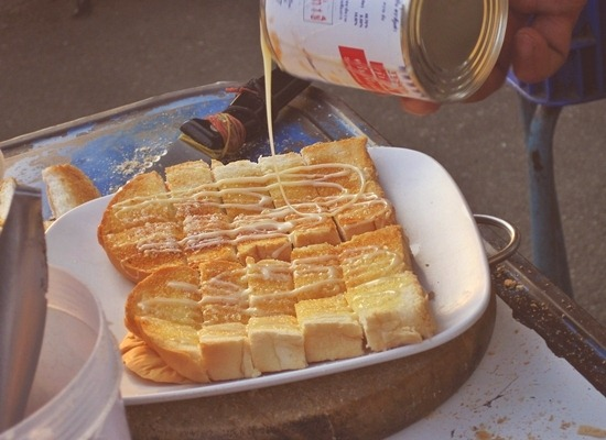 toasted bread in chiang mai