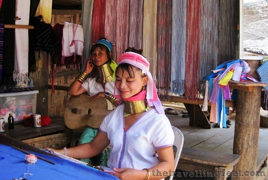 long neck women in Mae Hong Son, Thailand