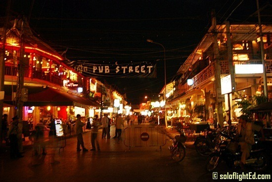 Pub Street at night