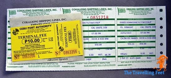 cebu to calbayog boat ticket