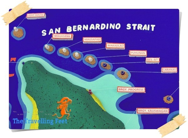Biri Island Rock Formations Map