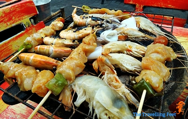 grilled seafoods in Thailand