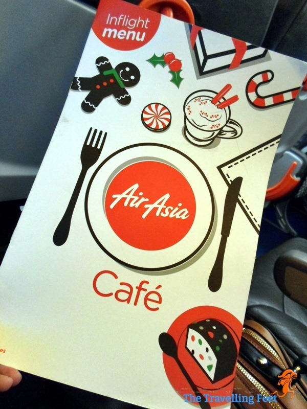 Air Asia Cafe Inflight Menu