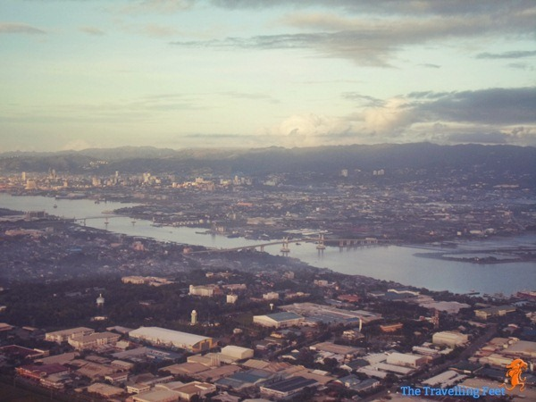 birds eye view of Cebu City and Lapu-lapu City