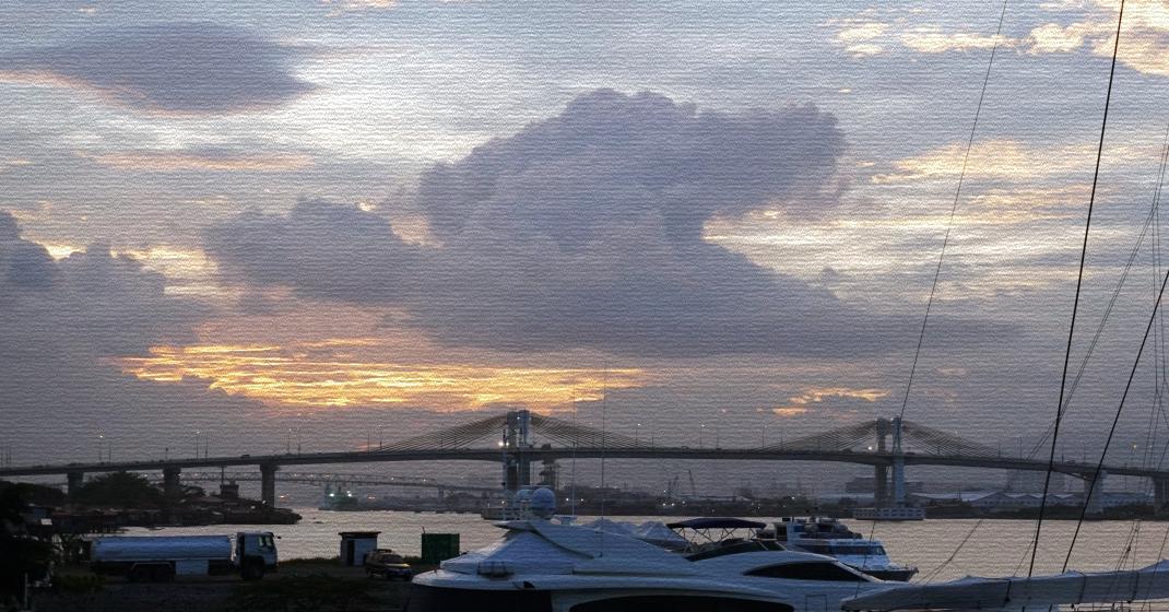 sunset over cebu city